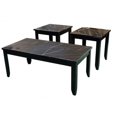 T4718 Faux Black Occasional Tables