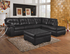 Simmons Furniture 9568 Showtime Onyx Sectional